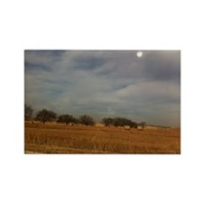 Kansas landscape before a storm Rectangle Magnet