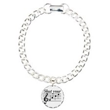 Shut you face music Charm Bracelet, One Charm