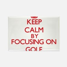 Keep calm by focusing on on Golf Magnets