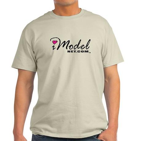 Pink Heart iModel Net.Com Bold Script Light T-Shir