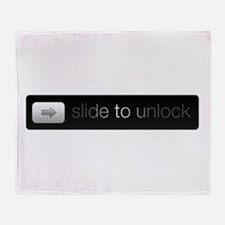 Slide to Unlock Throw Blanket