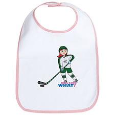 Hockey Player Girl Light/Red Bib