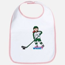 Hockey Player Girl Light/Red Bib