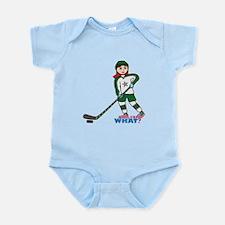 Hockey Player Girl Light/Red Infant Bodysuit