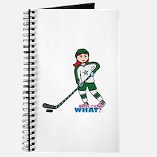 Hockey Player Girl Light/Red Journal