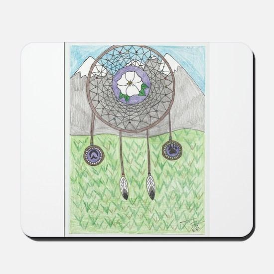 Cherokee Rose Dream Catcher Mousepad