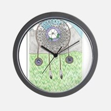 Cherokee Rose Dream Catcher Wall Clock