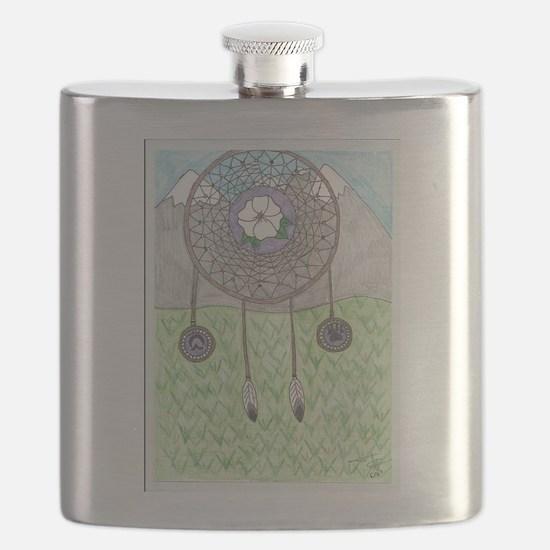 Cherokee Rose Dream Catcher Flask