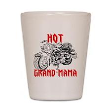 HOT GRAND-MAMA Shot Glass