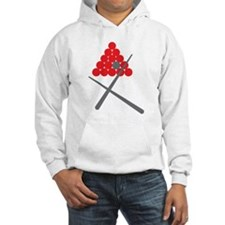 Snooker balls with cues grey and red Jumper Hoodie