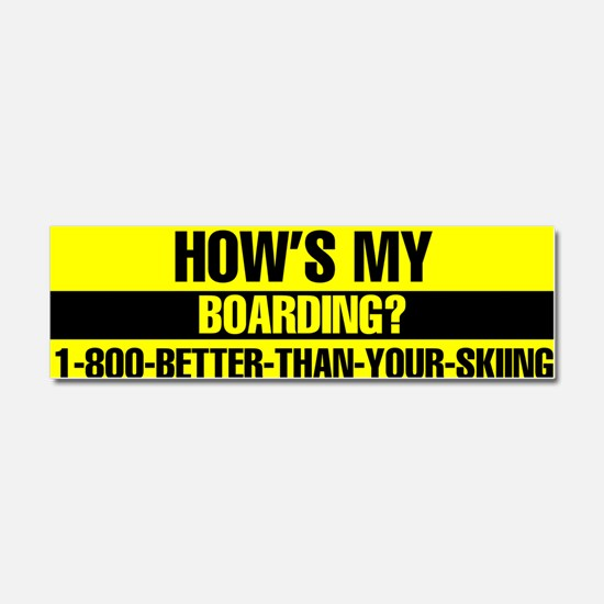 Cute Snowboarding Car Magnet 10 x 3