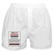 Area 51 Warning Boxer Shorts