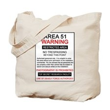 Area 51 Warning Tote Bag