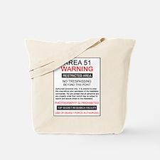 Area 51 Warning Tote Bag