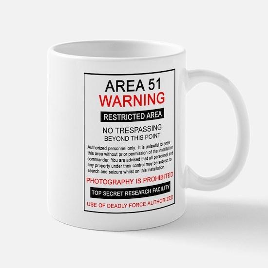 Area 51 Warning Mug