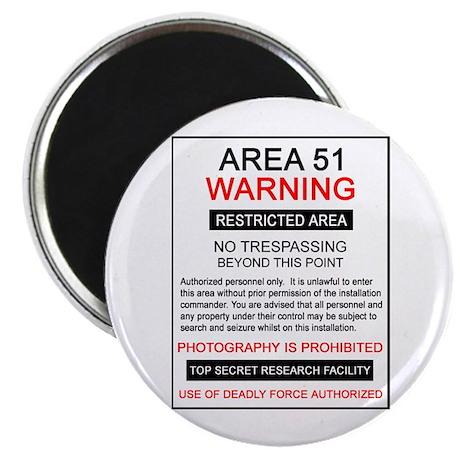 Area 51 Warning Magnet