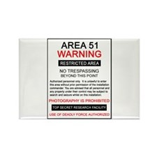 Area 51 Warning Rectangle Magnet