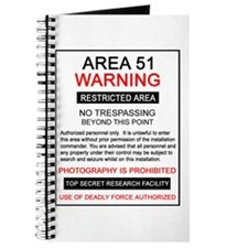 Area 51 Warning Journal