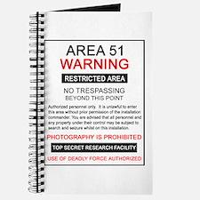 Area 51 Warning Journal