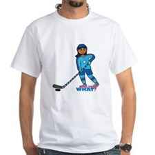 Hockey Player Girl Dark Shirt