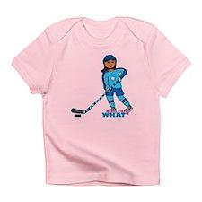 Hockey Player Girl Dark Infant T-Shirt