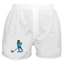 Hockey Player Girl Dark Boxer Shorts