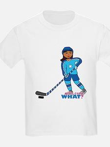 Hockey Player Girl Dark T-Shirt