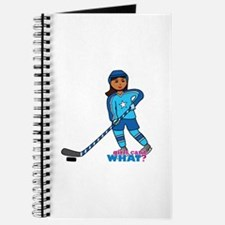 Hockey Player Girl Dark Journal