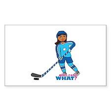 Hockey Player Girl Dark Decal
