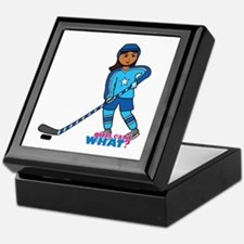 Hockey Player Girl Dark Keepsake Box