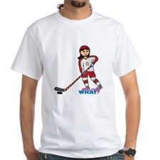 Hockey Player Girl Medium Shirt