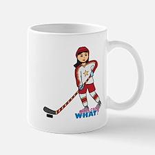 Hockey Player Girl Medium Mug