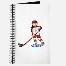 Hockey Player Girl Medium Journal