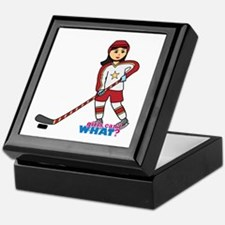 Hockey Player Girl Medium Keepsake Box
