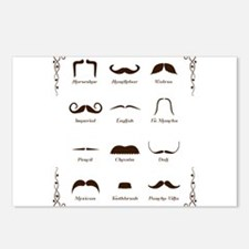 Mustache Style Identification Chart Postcards (Pac