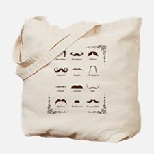Mustache Style Identification Chart Tote Bag