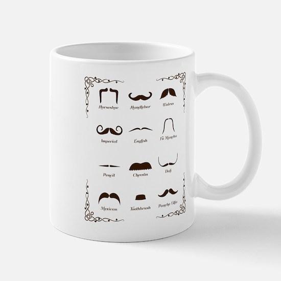 Mustache Style Identification Chart Mugs