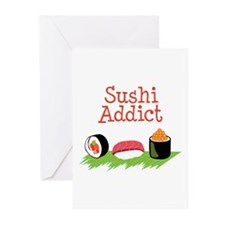 Sushi Addict Greeting Cards