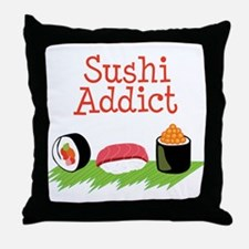 Sushi Addict Throw Pillow