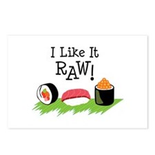 I Like It RAW! Postcards (Package of 8)