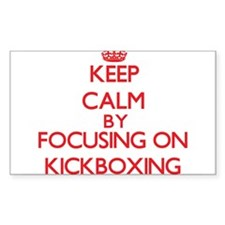 Keep calm by focusing on on Kickboxing Decal