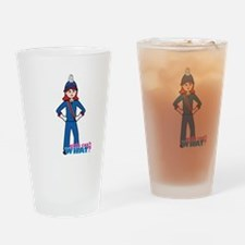 Marching Band Girl Light/Red Drinking Glass