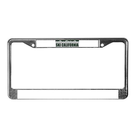 Ski California License Plate Frame
