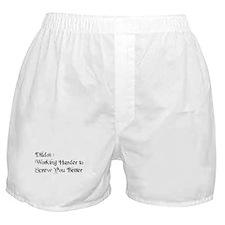 Dildo Slogan Boxer Shorts