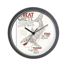 Great White Shark Poster Wall Clock