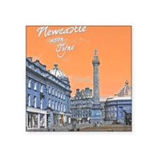 "Newcastle Upon Tyne Square Sticker 3"" x 3"""