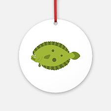 Flounder Ornament (Round)