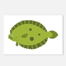 Flounder Postcards (Package of 8)