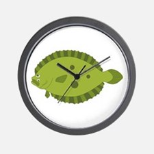 Flounder Wall Clock