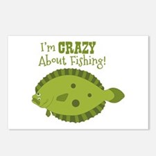 Im CRAZY About Fishing! Postcards (Package of 8)